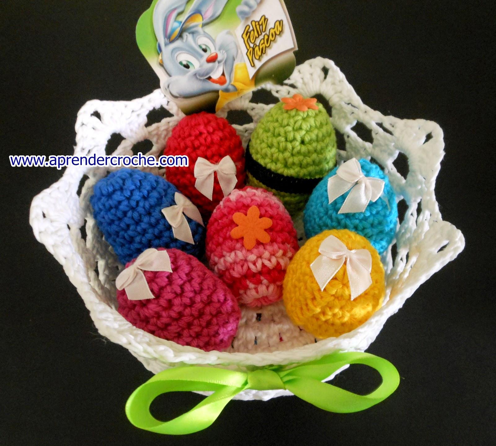 ovos em croche para cestas de páscoa aprender croche dvd loja curso