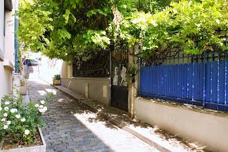 Paris : Passage et Villa Perreur, rivages urbains où s'épanouissent des flots de glycine - XXème