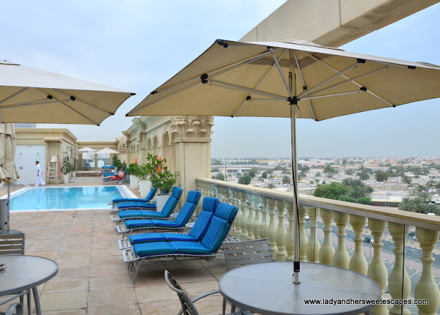 sun deck at Villa Rotana's 5th floor