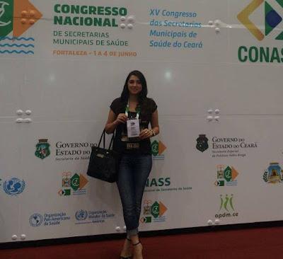 Secretária de Saúde de Ouro Velho participa de cursos e oficinas em Congresso no Ceará