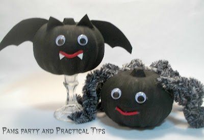 How to make a Bat Pumpkin and a Spider Pumpkin