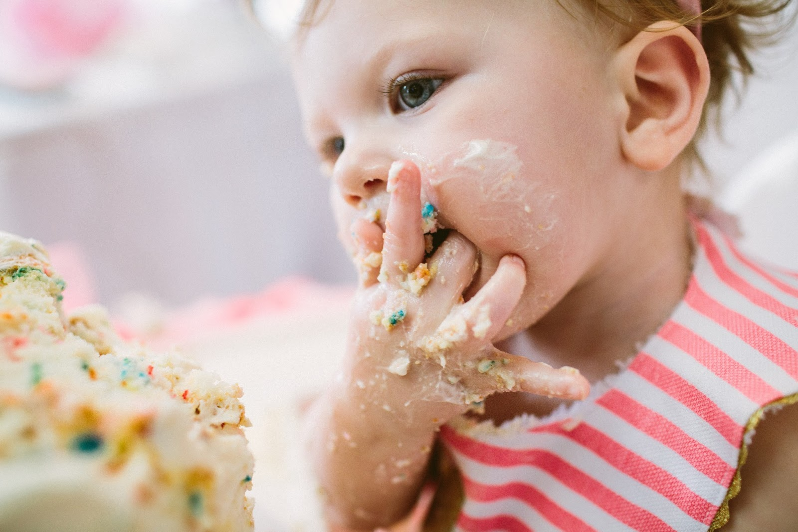 Funfetti Birthday Cake, Funfetti Smash Cake, First time having sugar