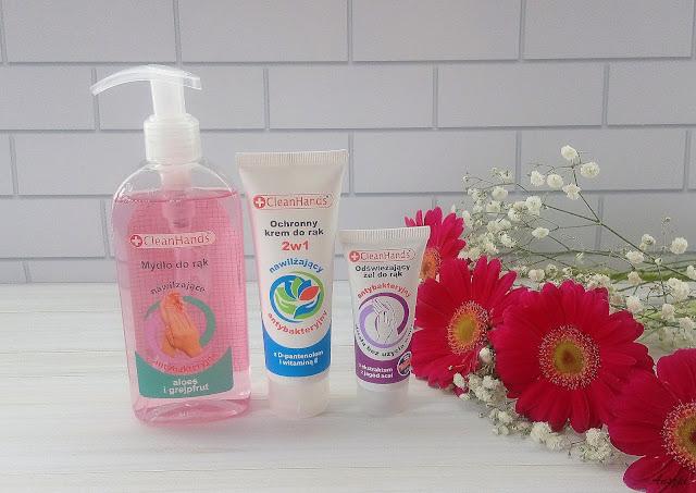 Pielęgnacja dłoni z Clean Hands: mydło w płynie, ochronny krem do rąk i odświeżający żel do rąk