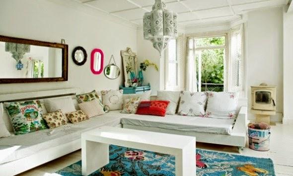 Warna cat ruang tamu minimalis dominan putih