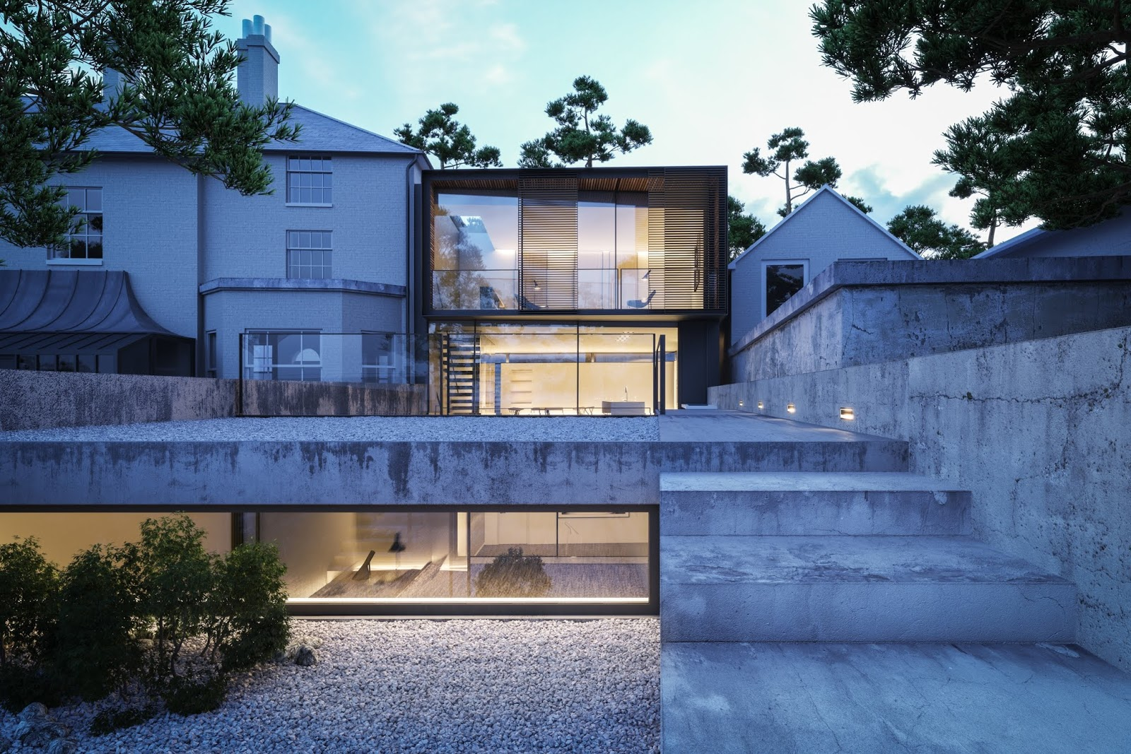 Free 3ds max exterior scene for vray