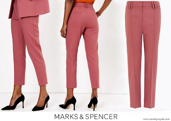 Kate Middleton wore Marks & Spencer Wool Blend Slim Leg Cropped Trousers