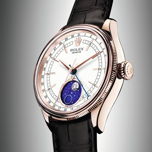 Réplique Montre Rolex Cellini Moonphase Everose Or La Revue