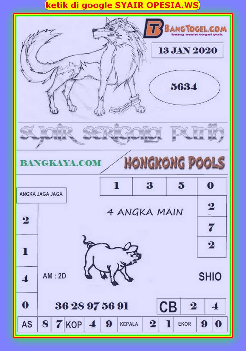 Kode syair Hongkong Senin 13 Januari 2020 193