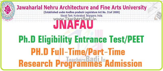 JNAFAU,Ph.D Eligibility Entrance Test,PEET 2016