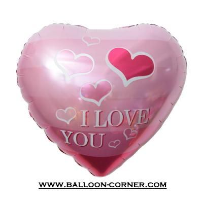Balon Foil Hati Motif Gradient I LOVE YOU