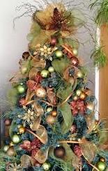 árvore de natal tema jardim