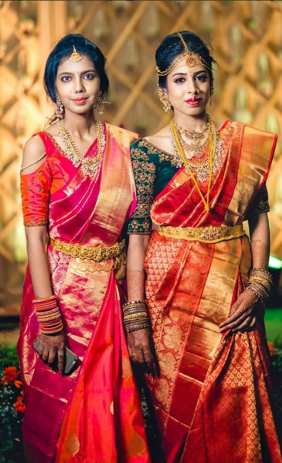 f08e6447a7f9e Reshmi saree blouse designs with a cold shoulder cut out isnt a 2019 trend.  I spotted many women pairing their silk sarees with cold shoulder blouse  designs ...