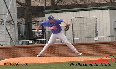 The throwing action your inner ear creates at foot plant brings your arm through the same tiny release window on every pitch and, at the same time, shows your opponent the same arm speed on every pitch.
