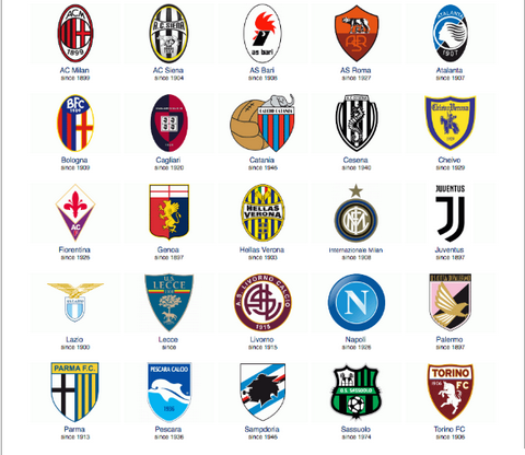 Logo mới của Juventus hoàn toàn khác so với những CLB khác tại Serie A.