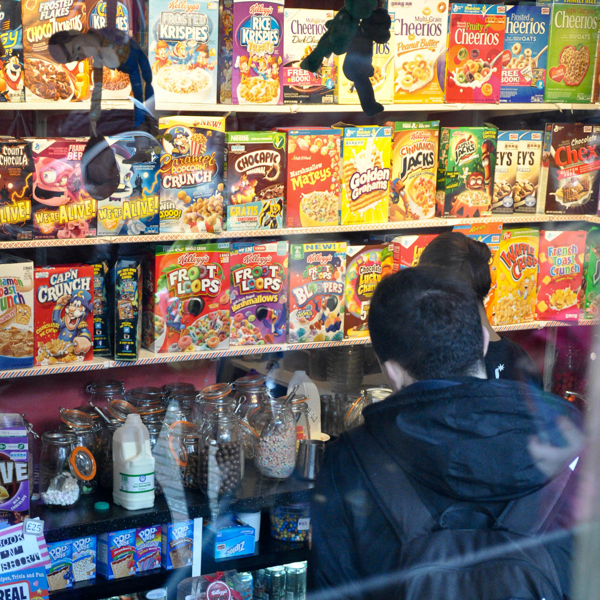 Ordering at the Cereal Killer Cafe, The Stables Market, Camden Town, London, England