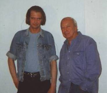 Klaus Guingand   &   Jasper Johns- 1995 - New York - USA. At, Jasper Johns. © Muriel Bonel