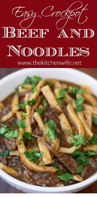 Easy Crockpot Beef And Noodles Recipe