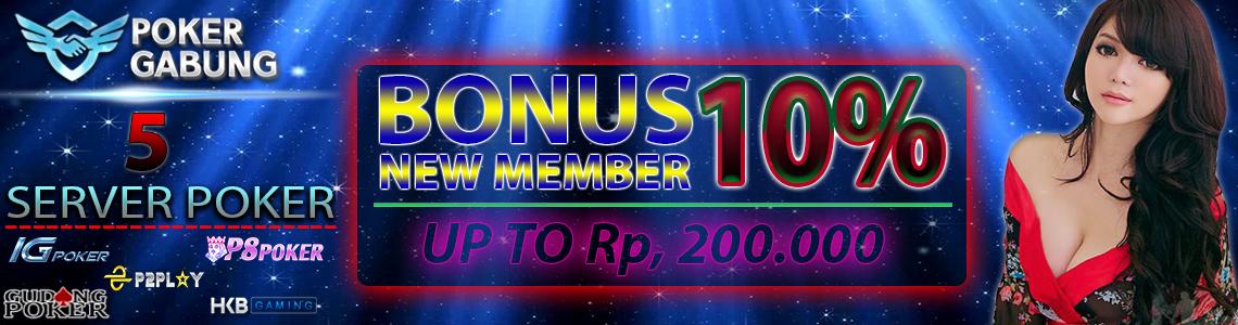 Bonus New Member 10% Pokergabung-2