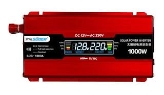 Suoer Power Inverter - Car USB Converter (12V to 220V) with LED Display