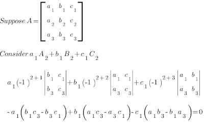 elements-cofactors-product-in-a-Determinant-Property