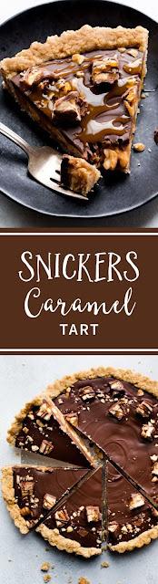 Snickers Caramel Tart