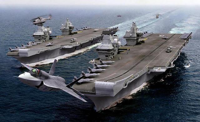 HMS Rainha Elizabeth Aircraft Carrier - Inglaterra