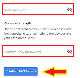 Cara ganti password Gmail di PC