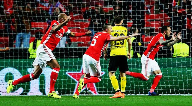 Ederson pega pênalti, e Benfica vence Dortmund no 1º jogo das oitavas da Champions