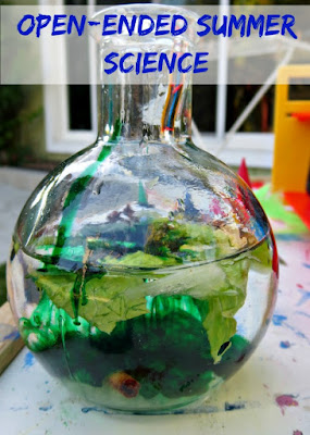 Open Ended Science Play - a DIY Potion Lab