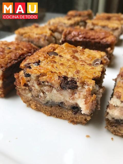 mau cocina de todo barritas de coco con chocolate nuez postre receta