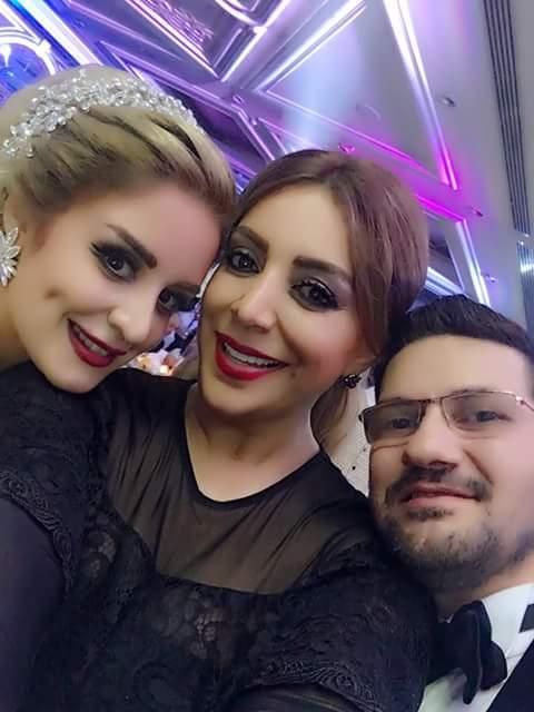 شكران مرتجى في فرح  المخرج تامر إسحاق وعروسة الجميلة الدكتورة ميرنا كرم