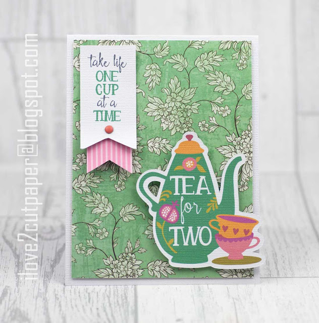 Spring Tea, Tea for Two card, card toppers, ilove2cutpaper, LD, Lettering Delights, Pazzles, Pazzles Inspiration, Pazzles Inspiration Vue, Inspiration Vue, Print and Cut, svg, cutting files, templates, Silhouette Cameo cutting machine, Brother Scan and Cut, Cricut