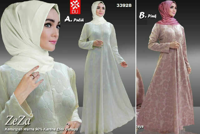 Pusat Grosir Baju Wanita Gamis Muslimah Zeza Maxi 081602