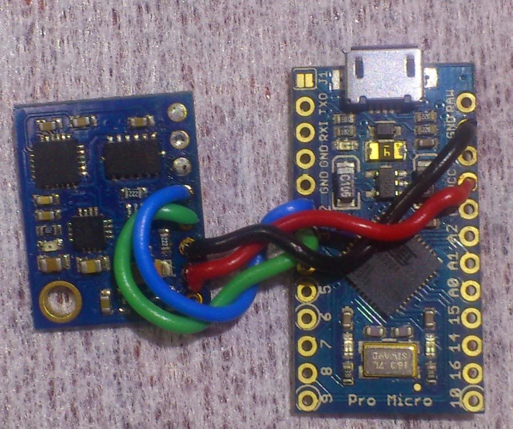 Arduino Pro Micro + IMU