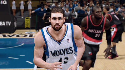 NBA 2K13 Kevin Love Cyberface Patch
