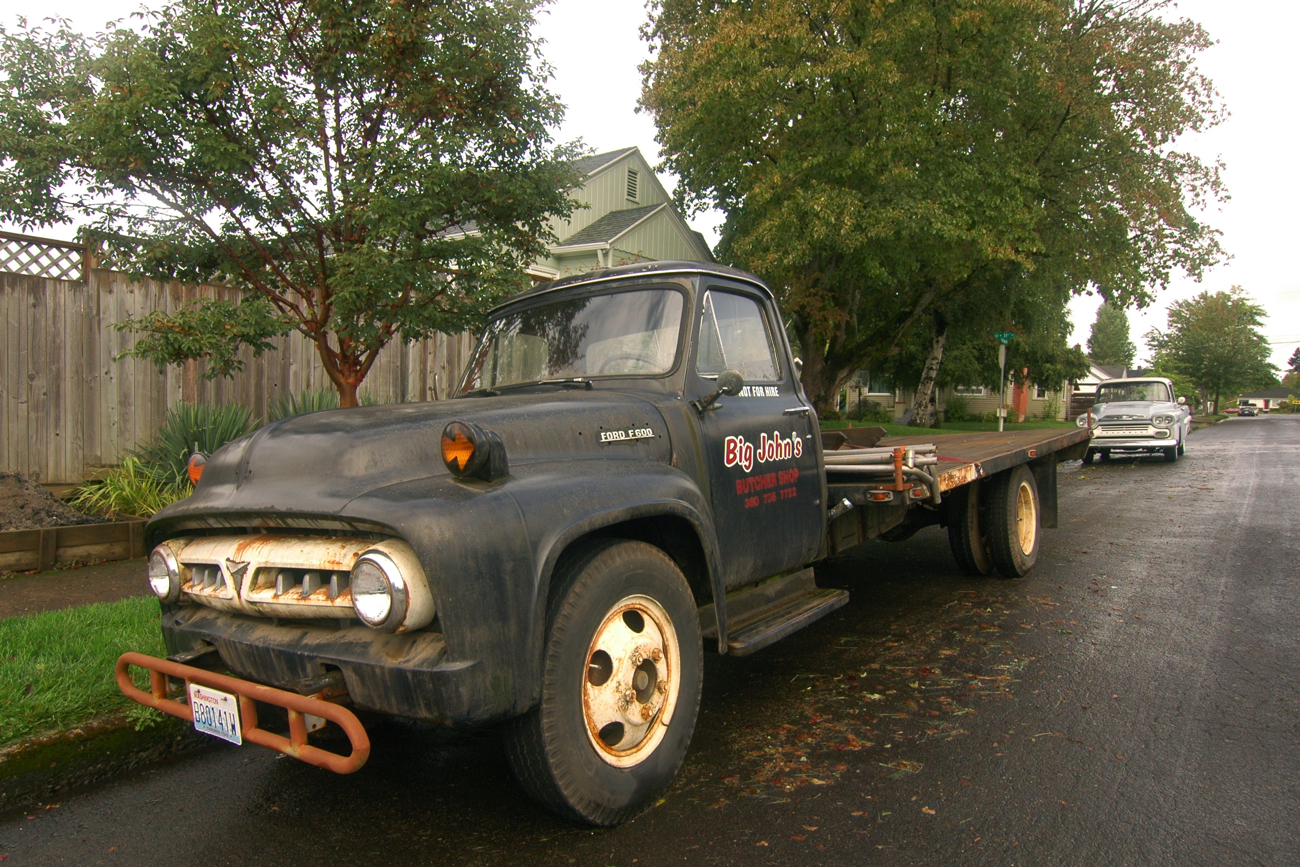 old parked cars 1953 ford f 600 59 Ford F100 may 5 2014