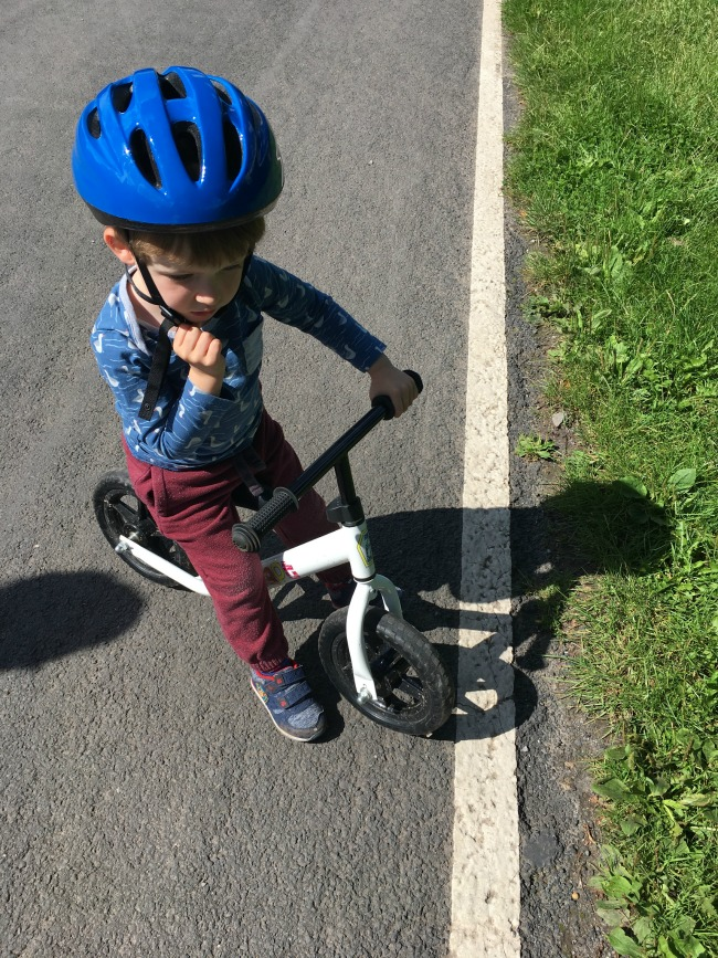 Our-weekly-journal-7-august-2017-trains-and-bikes-toddler-on-bike
