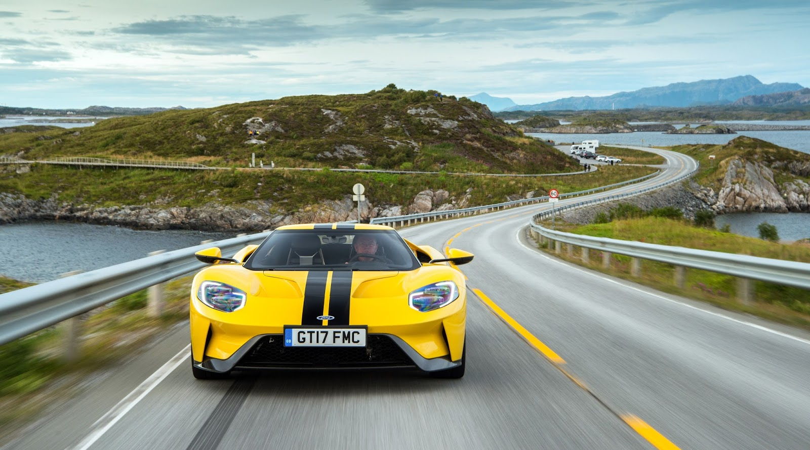 Ford Gt On The Atlantic Ocean Road Norway