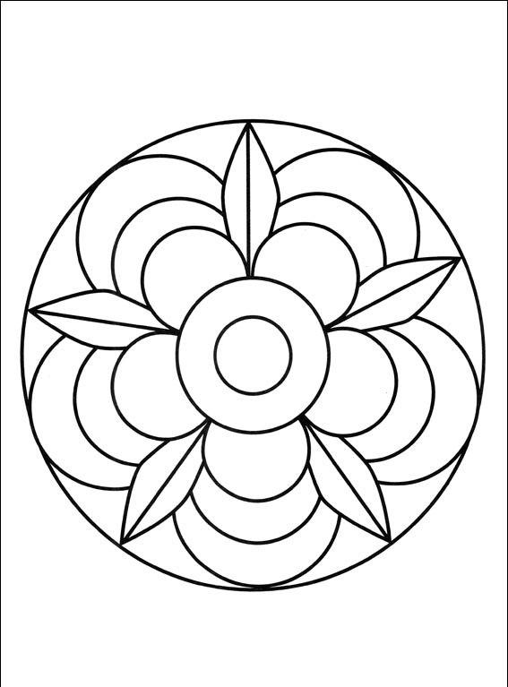 Mandala Boyama 5 Yaş üst Ev Boyama Sayfası