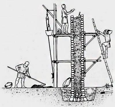 Muro de hormigon romano