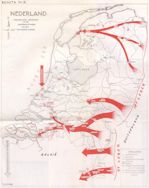 Οι γερμανικοί άξονες εισβολής στην Ολλανδία