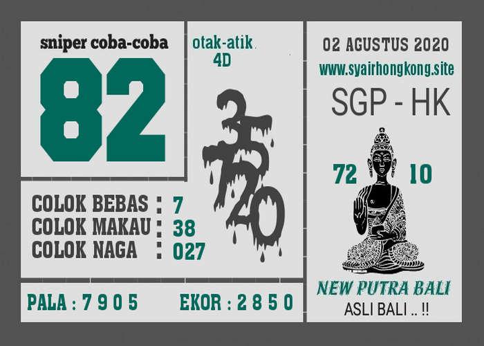 Kode syair Hongkong Minggu 2 Agustus 2020 219