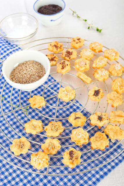 Rezept für Käse- Plätzchen. Edyta Guhl.