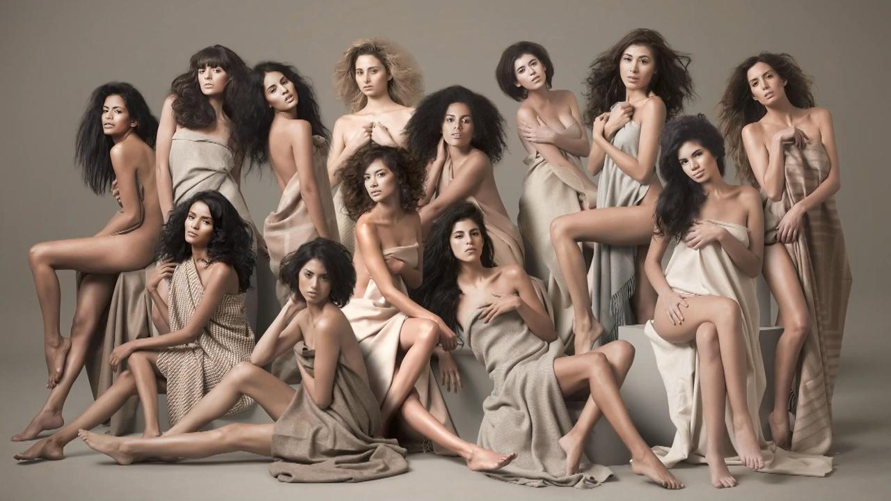Next Top Model Blog: PeNTM C1: Nude Group Shot with Fabric