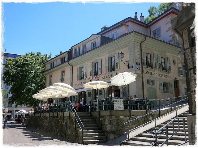 Geneva's Place de la Madeleine.