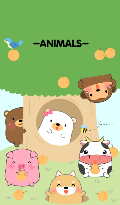 Home Animals On Tree theme(jp)