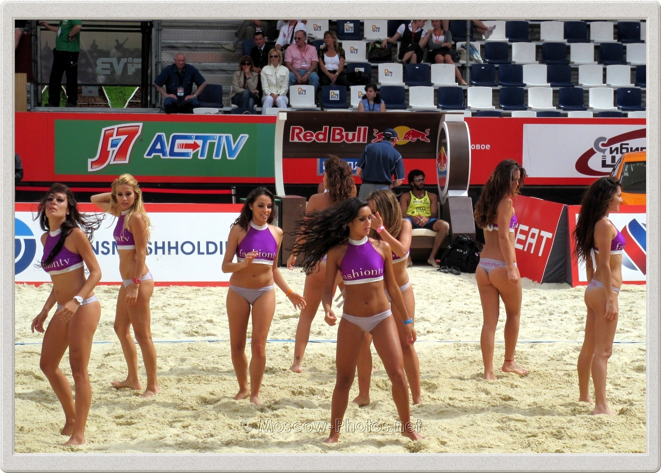 Hot Beach Volleyball Girls In Moscow