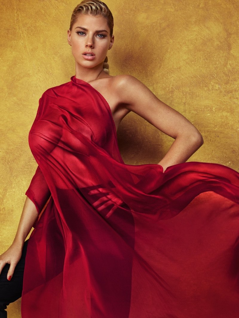 Charlotte McKinney is Red Hot in GQ Mexico by Hunter & Gatti