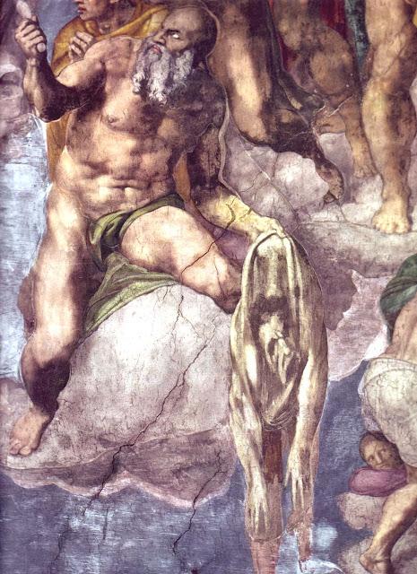 Resultado de imagen de miguel ángel buonarroti retrato juicio final