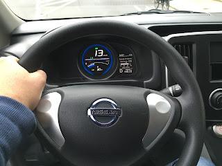 Probefahrt Nissan env200 innenraum Lenkrad Tacho Stuck Belz